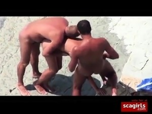 girls licking pussy at the beach