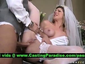 Top bride porn movies, sexy blonde gets anal