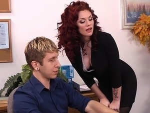porn threesome at office interview