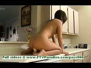 young and mature sex in kitchen