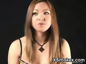 huge mature boob smoking video
