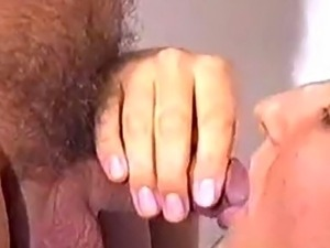 girl pissing panties while giving blowjob