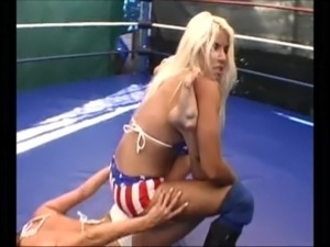 woman sex wrestling video
