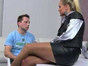 nylon stocking fuck video