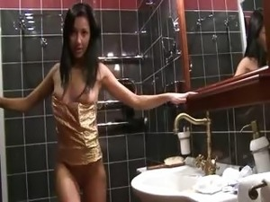 pussy in the bathroom