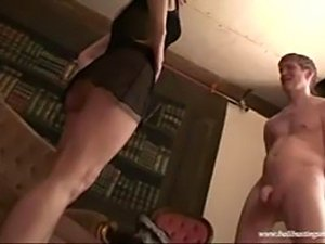 black girl ballbusting
