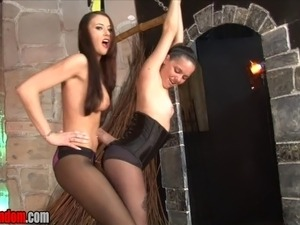 black girls ballbusting