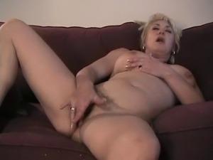 horny blonde wife masturbating