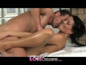 Cumming inside the pussy
