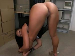 Sexy lesbian office