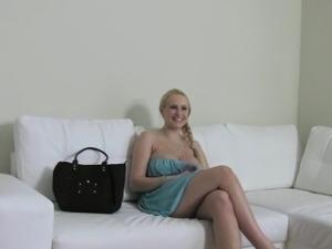 blonde casting sex slut load