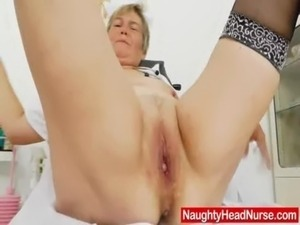 busty mature nurse video