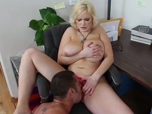 mature secretary masturbating movie
