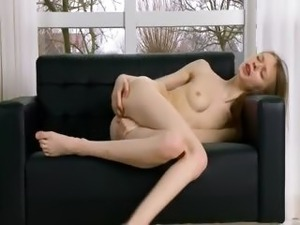 porn black panties couch casting