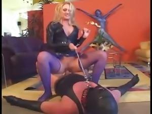 leather orgasm wife