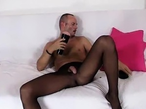 wet pussy nylons fetish