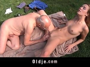 Old man fucks girls