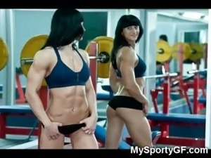 naked in gym video