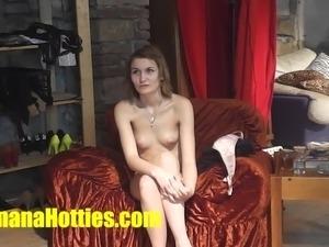 Czech girls fucked in public for money