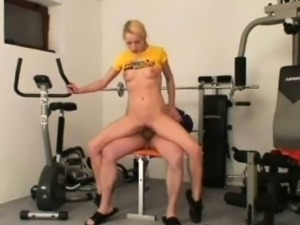 Girl fucked in gym