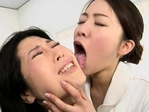 busty japanese lesbians eating pussy