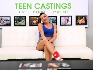 casting couch brunette pussy