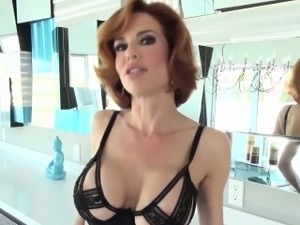 mature lingerie striptease video