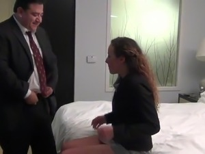 Old guy fucking milf at hotel