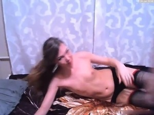flat chested skinny sex video
