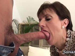 petite brunette dildoing orgasm in stockings