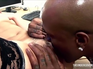 wife giving boss blowjob