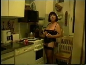 lesbian kitchen mature videos