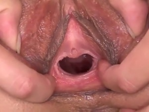 Gaping pussy video