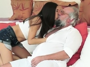 free old man young girl porn