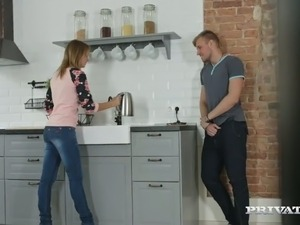kitchen petite girl