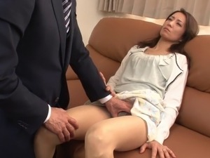japanese wife fucks to protect daughter