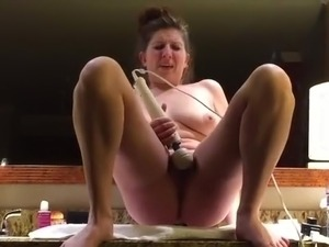 hot sexy bitch rapped in bathroom