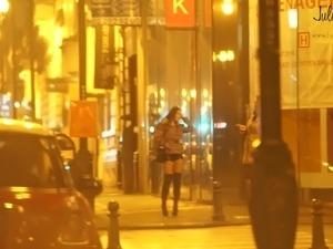 japanese girl stripped street
