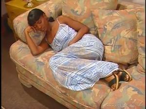 Ebony fucked in sleep