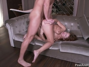 blonde first anal fuck audition video