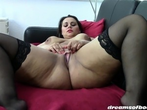 wife fucking stockings video