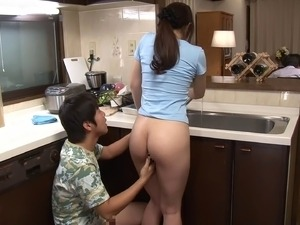 asian waitress video