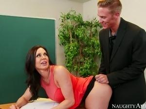 boss secretary blackmail breasts spread her