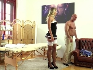 french maid sex boobs