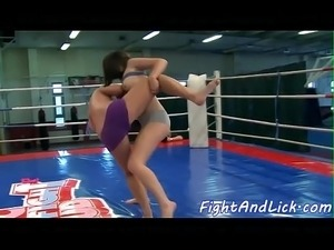 girls videos oil wrestling