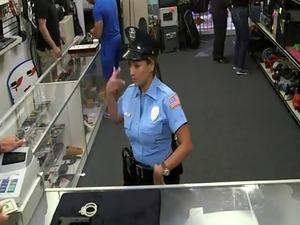 police station video girl on desk