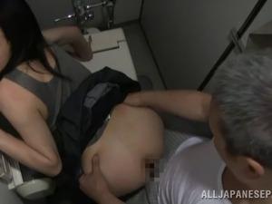 mature lesbian toilet