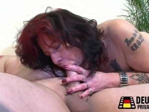 wife giving young boy slow handjob