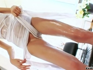 kinky blonde girl with whip