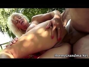 ebony granny loves anal sex